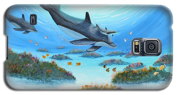 Dolphen Moves Galaxy S5 Case by Myrna Walsh