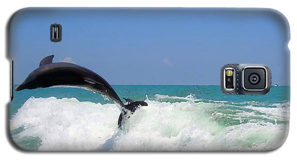 Galaxy S5 Case featuring the digital art Dolphin Flip 2 by Kara  Stewart