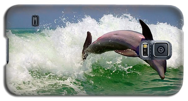 Galaxy S5 Case featuring the digital art Dolphin Flip by Kara  Stewart