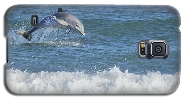 Galaxy S5 Case featuring the photograph Dolphin In Surf by Bradford Martin