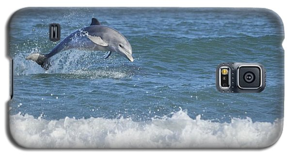 Dolphin In Surf Galaxy S5 Case