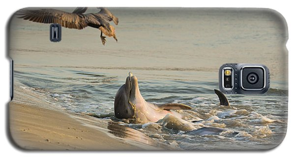 Galaxy S5 Case featuring the photograph Dolphin Joy by Patricia Schaefer