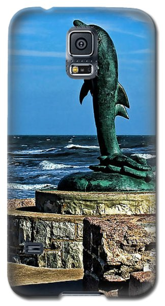Dolphin Statue Galaxy S5 Case by Judy Vincent