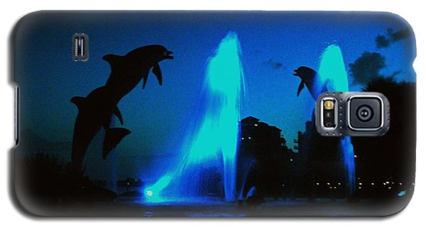 Galaxy S5 Case featuring the photograph Dolphins At Dusk by Gary Wonning