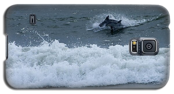 Galaxy S5 Case featuring the photograph Dolphins At Play by Greg Graham