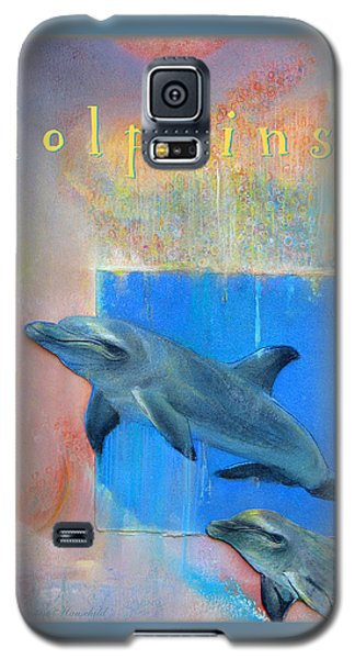 Galaxy S5 Case featuring the pastel Dolphins by Brooks Garten Hauschild