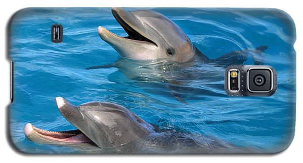 Galaxy S5 Case featuring the photograph Dolphins by Kristine Merc