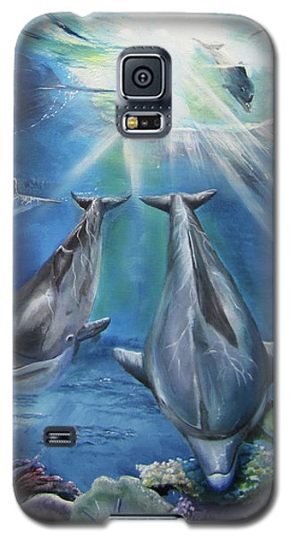 Dolphins Playing Galaxy S5 Case