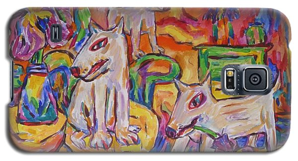 Domesticated Wolves In Dutch Iris Room Galaxy S5 Case by Dianne  Connolly