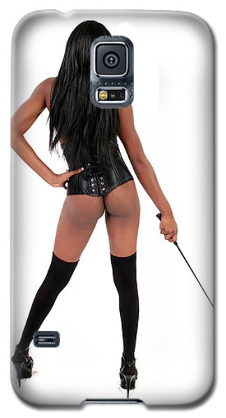 Galaxy S5 Case featuring the photograph Dominatrix With Riding Crop by Lon Casler Bixby