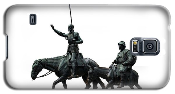 Galaxy S5 Case featuring the photograph Don Quixote And Sancho Panza  by Fabrizio Troiani