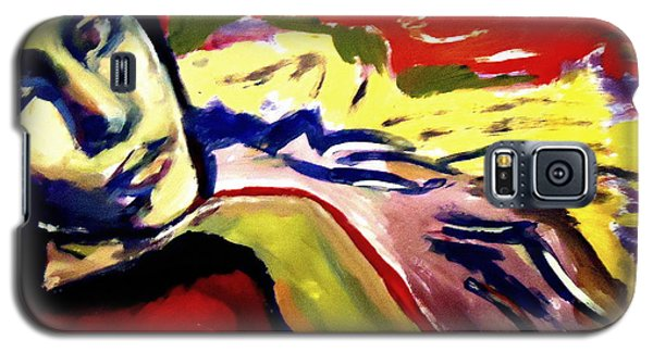 Galaxy S5 Case featuring the painting Don T Look Back by Helena Wierzbicki