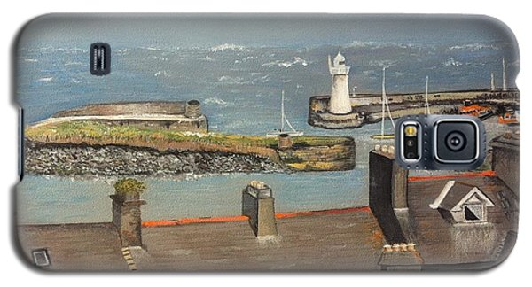 Galaxy S5 Case featuring the painting Donaghadee Ireland Irish Sea by Brenda Brown