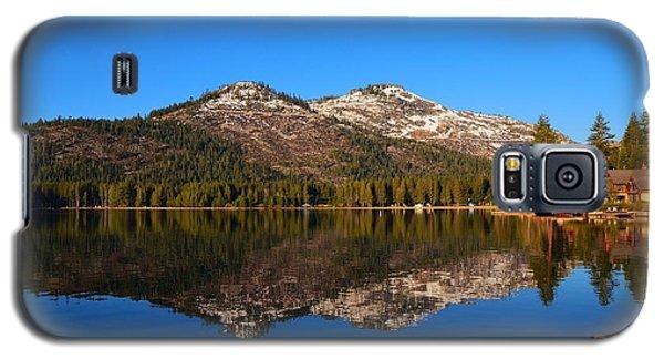Donner Lake Cabin Reflection Galaxy S5 Case