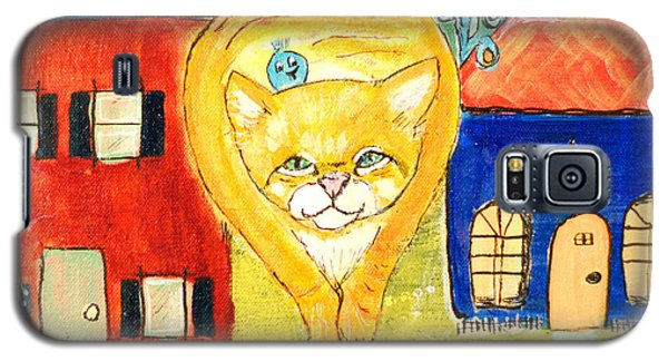 Galaxy S5 Case featuring the painting Don't Fence Me In by Lou Belcher