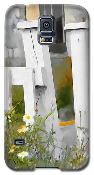 Galaxy S5 Case featuring the painting Don't Pick The Daisies by Bob Salo
