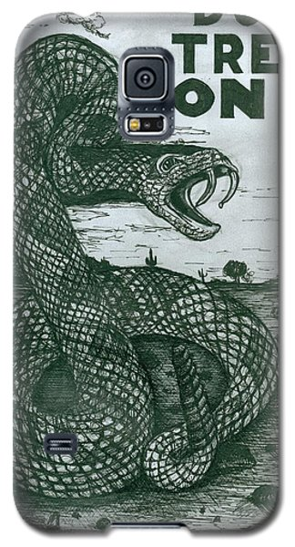 Galaxy S5 Case featuring the drawing Don't Tread On Me by Richie Montgomery