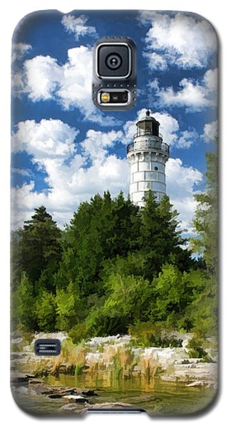 Cana Island Lighthouse Cloudscape In Door County Galaxy S5 Case