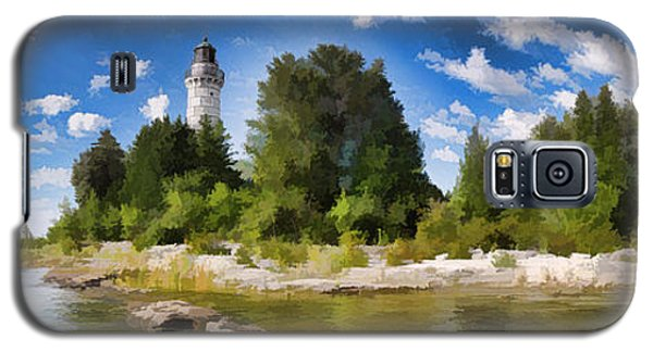 Door County Cana Island Lighthouse Panorama Galaxy S5 Case