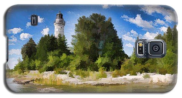 Door County Cana Island Lighthouse Panorama Galaxy S5 Case