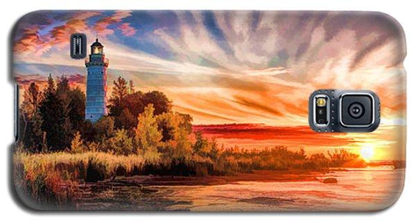 Door County Cana Island Lighthouse Sunrise Panorama Galaxy S5 Case