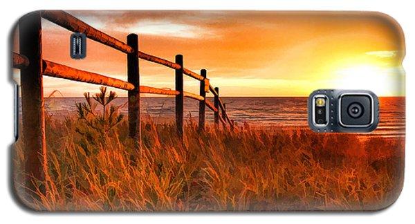 Door County Europe Bay Fence Sunrise Galaxy S5 Case