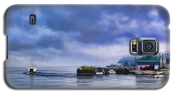 Door County Gills Rock Morning Catch Panorama Galaxy S5 Case