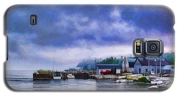Door County Gills Rock Morning Catch Panorama Galaxy S5 Case