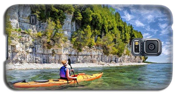Door County Kayaking Around Rock Island State Park Galaxy S5 Case