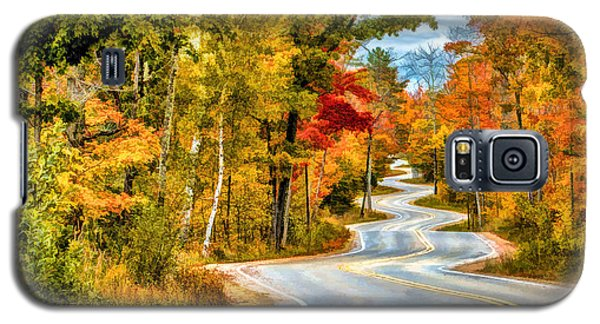 Door County Road To Northport In Autumn Galaxy S5 Case