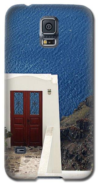 Door Facing The Aegean Sea Galaxy S5 Case by Aiolos Greek Collections
