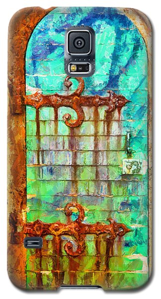 Galaxy S5 Case featuring the painting Door To Lighthouse by Kai Saarto