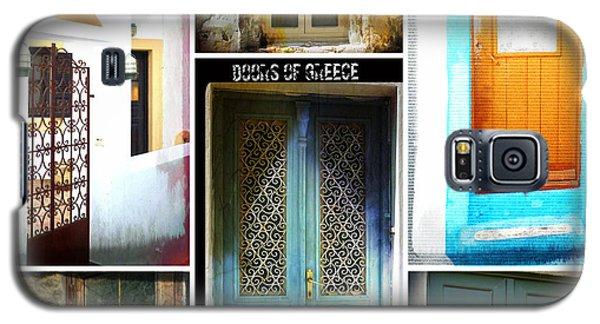Doors Of Greece Collage Galaxy S5 Case