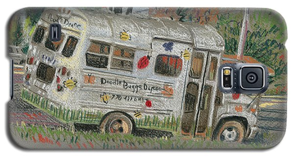 Galaxy S5 Case featuring the painting Doodlebugs Bus by Donald Maier