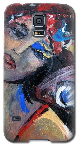 Galaxy S5 Case featuring the painting Dot by Dawn Fisher
