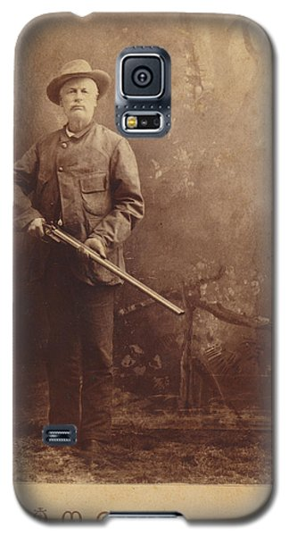Galaxy S5 Case featuring the photograph Double Barrel Shotgun Hunter by Paul Ashby Antique Image