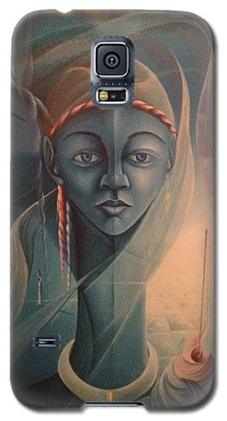 Double Face Of A Voodoo Woman Galaxy S5 Case by Haitian artist