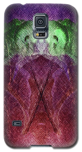 Galaxy S5 Case featuring the digital art Double Flower by Andrea Barbieri