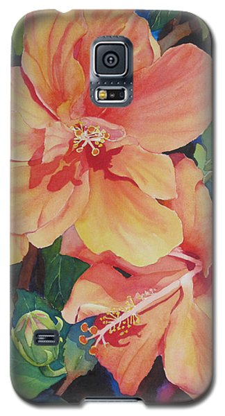 Double Hibiscus Galaxy S5 Case by Judy Mercer