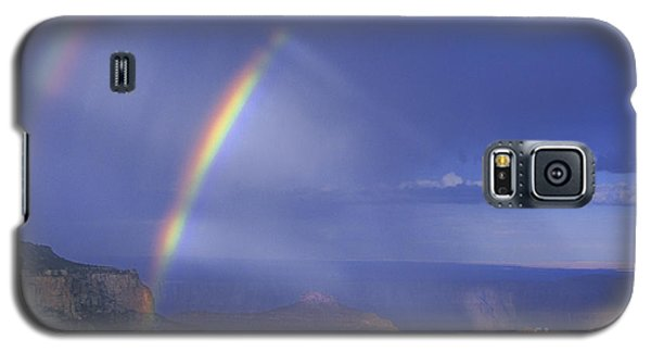 Double Rainbow At Cape Royal Grand Canyon National Park Galaxy S5 Case