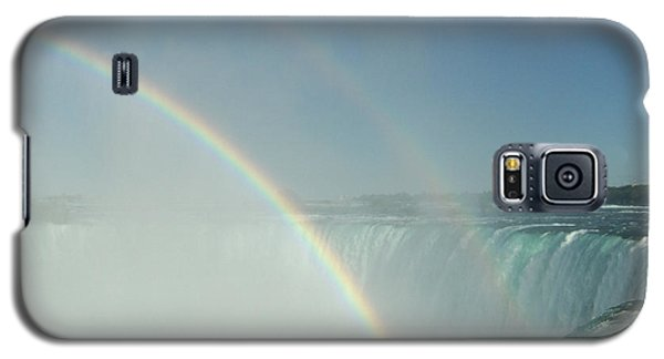 Galaxy S5 Case featuring the photograph Double Rainbow by Brenda Brown