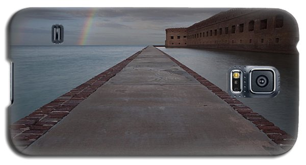 Double Rainbow Over Fort Jefferson Galaxy S5 Case
