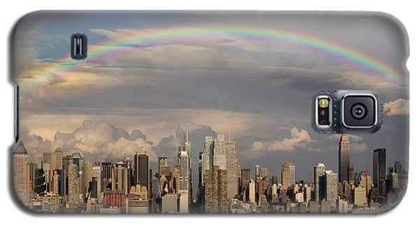 Double Rainbow Over Nyc Galaxy S5 Case