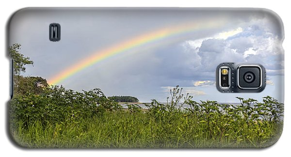 Double Rainbow Sheffield Island Galaxy S5 Case by Marianne Campolongo