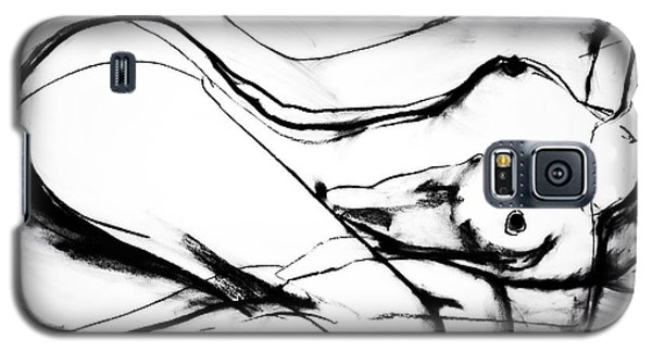 Galaxy S5 Case featuring the drawing Double Raw by Helen Syron