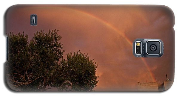 Double Red Rainbow With Tree In Jerome Galaxy S5 Case