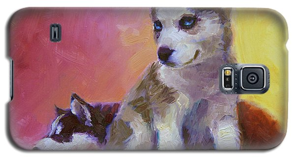 Double Trouble - Alaskan Husky Sled Dog Puppies Galaxy S5 Case