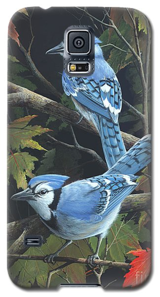 Galaxy S5 Case featuring the painting Double Trouble by Mike Brown