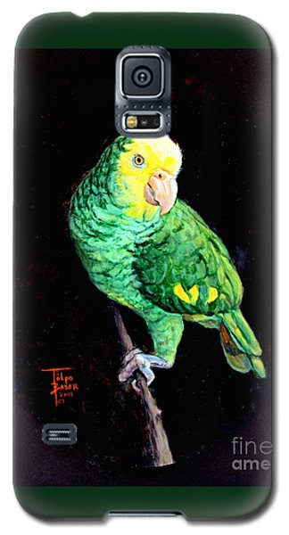 Double Yellow Headed Amazon Paco Galaxy S5 Case