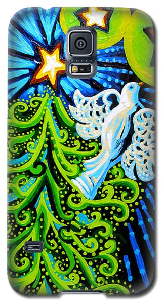 Dove And Christmas Tree Galaxy S5 Case